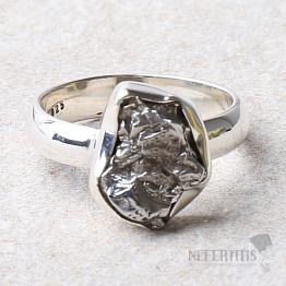 Meteorit Campo del Cielo prsten stříbro Ag 925 R968