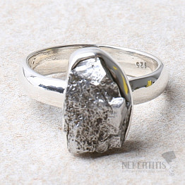 Meteorit Campo del Cielo prsten stříbro Ag 925 R987