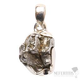 Meteorit Campo del Cielo přívěsek stříbro Ag 925 P694