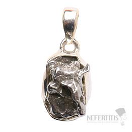 Meteorit Campo del Cielo přívěsek stříbro Ag 925 P724