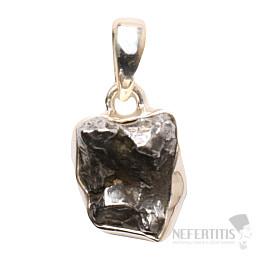 Meteorit Campo del Cielo přívěsek stříbro Ag 925 P726
