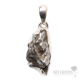 Meteorit Campo del Cielo přívěsek stříbro Ag 925 P731