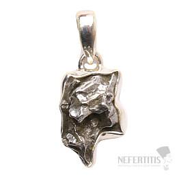 Meteorit Campo del Cielo přívěsek stříbro Ag 925 P751