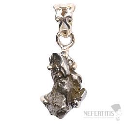 Meteorit Campo del Cielo přívěsek stříbro Ag 925 P831