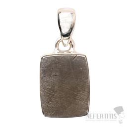 Meteorit Gibeon přívěsek stříbro Ag 925 P214