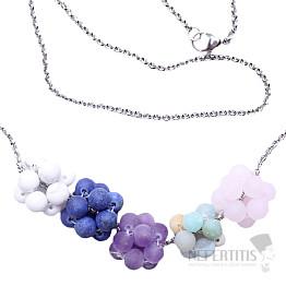 Mix kamenů hrozny náhrdelník s řetízkem