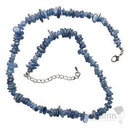 Kyanit náhrdelník sekaný