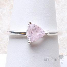 Morganit růžový smaragd broušený prsten stříbro Ag 925 R29