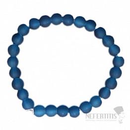 Dětský náramek satinovaný modrý