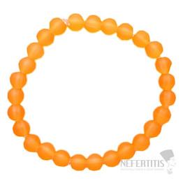 Dětský náramek satinovaný oranžový