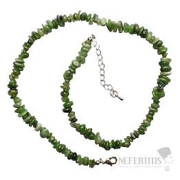 Jadeit kanadský náhrdelník sekaný