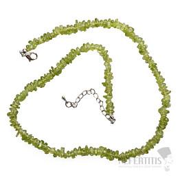 Olivín náhrdelník sekaný AA kvalita