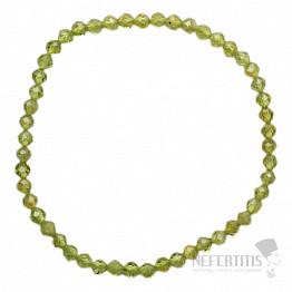 Olivín náramek extra AA kvalita broušené korálky