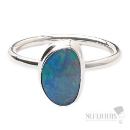 Opál australský prsten stříbro Ag 925 R1445