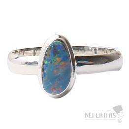 Opál australský prsten stříbro Ag 925 R1530