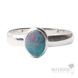 Opál australský prsten stříbro Ag 925 R1549