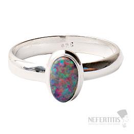 Opál australský prsten stříbro Ag 925 R1565