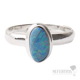 Opál australský prsten stříbro Ag 925 R1566
