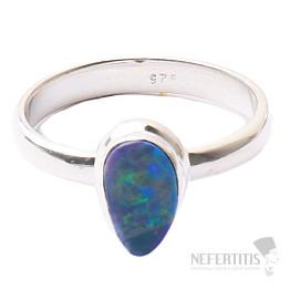 Opál australský prsten stříbro Ag 925 R1607