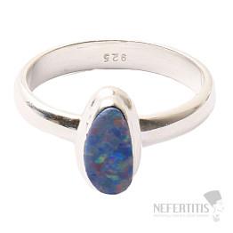 Opál australský prsten stříbro Ag 925 R1626