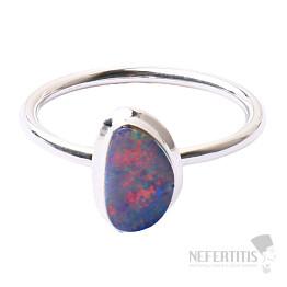 Opál australský prsten stříbro Ag 925 R1646