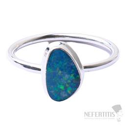 Opál australský prsten stříbro Ag 925 R1660