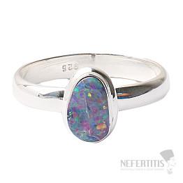 Opál australský prsten stříbro Ag 925 R1557