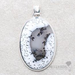 Opál dendritický přívěsek stříbro Ag 925 P1745