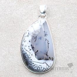 Opál dendritický přívěsek stříbro Ag 925 P1748
