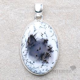 Opál dendritický přívěsek stříbro Ag 925 P1887