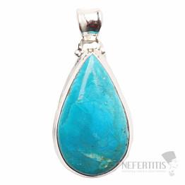 Opál modrý peruánský přívěsek stříbro Ag 925 P139