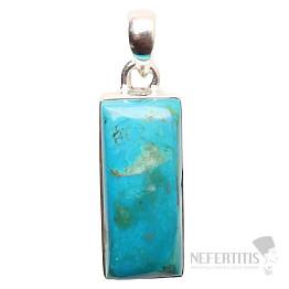 Opál modrý peruánský přívěsek stříbro Ag 925 P36