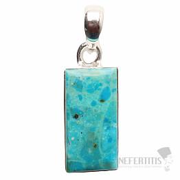 Opál modrý peruánský přívěsek stříbro Ag 925 P39