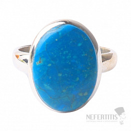 Opál modrý peruánský prsten stříbro Ag 925 R16