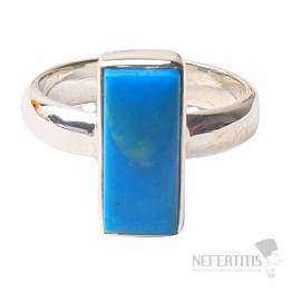 Opál modrý peruánský prsten stříbro Ag 925 R29