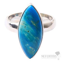 Opál modrý peruánský prsten stříbro Ag 925 R36