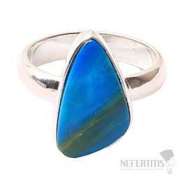 Opál modrý peruánský prsten stříbro Ag 925 R37