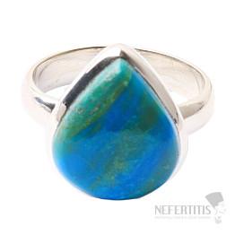 Opál modrý peruánský prsten stříbro Ag 925 R5