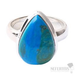 Opál modrý peruánský prsten stříbro Ag 925 R54