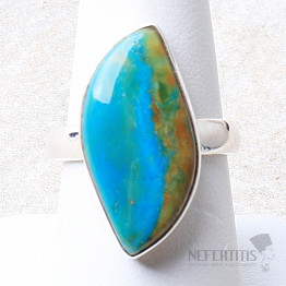 Opál modrý peruánský prsten stříbro Ag 925 R117