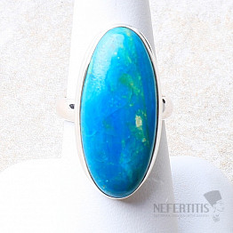 Opál modrý peruánský prsten stříbro Ag 925 R128