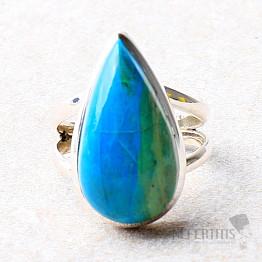 Opál modrý peruánský prsten stříbro Ag 925 R146