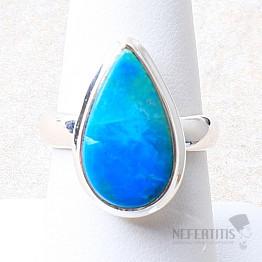Opál modrý peruánský prsten stříbro Ag 925 R154