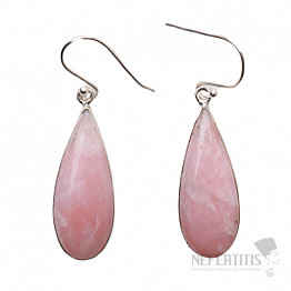 Opál růžový náušnice stříbro Ag 925 P205