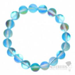 Opalit Aqua aura náramek korálkový