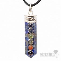 Orgonit čakrový přívěsek krystal s lapisem lazuli