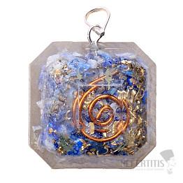 Orgonit přívěsek oktagon s lapisem lazuli