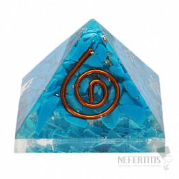 Orgonit pyramida s tyrkysem malá