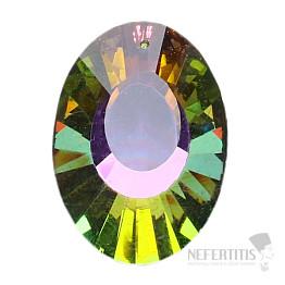 Ovál Feng Shui broušený křišťál duhový multicolor