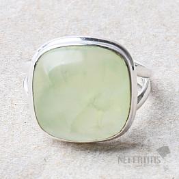Prehnit prsten stříbro Ag 925 R748